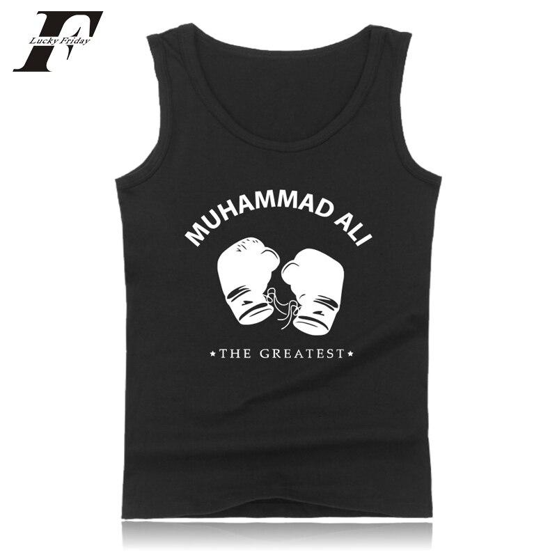2017 Größte Muhammad Ali Tank Top Männer & Frauen Mma Star Sleeveless Shirts Kleidung Starke Maker Fitness Bodybuilding Sommer Westen