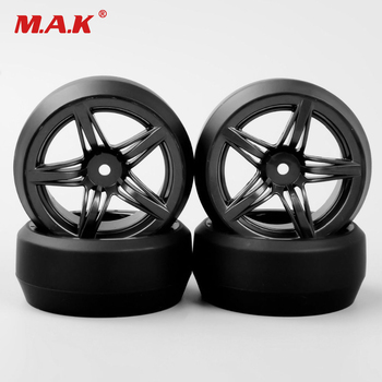 4pcs 1:10 RC car model racing drift tires tyre & wheels hub rim fit for HSP HPI on-road street racing car 12FM+PP0367 toy 6mm 12mm hex car parts offset rc drift tires tyre wheel rims 4pcs set dhg pp0370 fit for hpi hsp 1 10 drift racing car truck