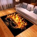 Креативные ковры с 3D-принтом пламени черепа для гостиной  спальни  современные коврики для дома  гостиной  большой размер  мягкий ковер