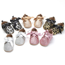 New PU Leather Baby Girl Moccasins Shoes Bow Fringe Soft Soled Non-slip Footwear Crib