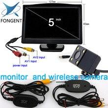 5 polegada Monitor para Visão Traseira Do Carro Câmera de Estacionamento Auto Backup Reversa Monitor de HD 800*480 tft-lcd tela de 2 Suportes/Suportes Opcionais