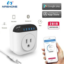Nashone Thermostat 220v Wireless Bluetooth Multi-Function Outlet with Probe Timing,Countdown Schedule APP Control iOS & Android smartyiba android ios app wireless