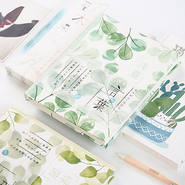 Nature Light Big Hard Cover Study Diary Journal Beautiful Notebook Notepad Memo Lined Grid Blank Papers