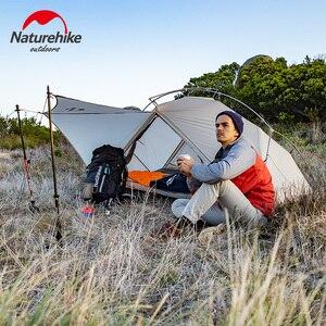 Image 5 - Naturehike VIK serisi Ultralight su geçirmez 1 kişi tek katmanlı açık seyahat çadırları yürüyüş kamp çadırı