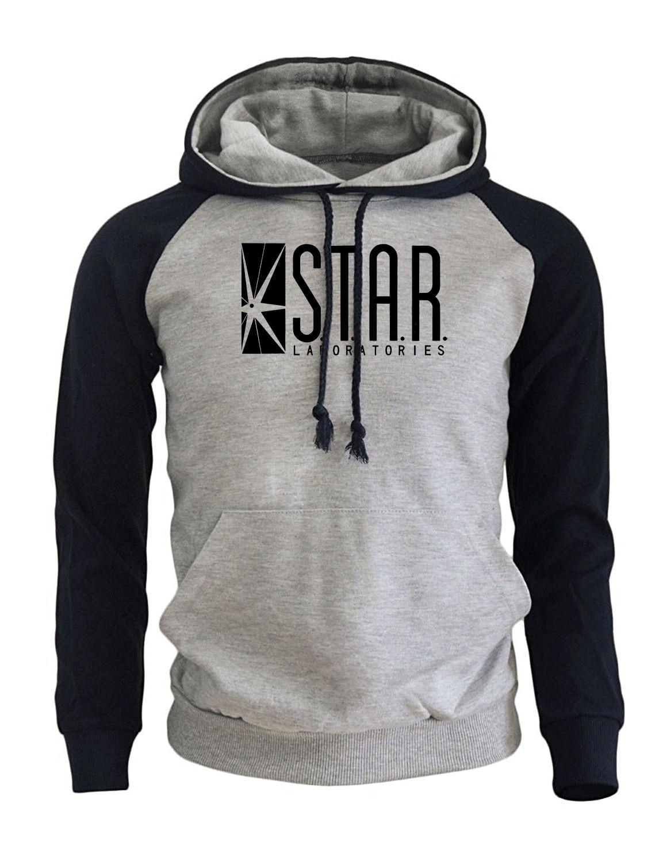 2017 New Arrival Hot Hoodies Men Print STAR S.T.A.R.labs Fashion Streetwear Harajuku Hipster Men's Sportswear Sweatshirts Hoody