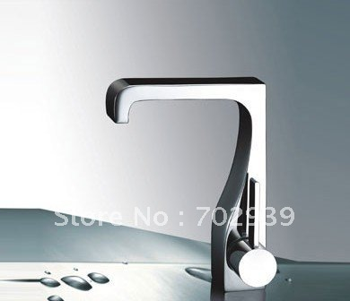 Free shipping polished chrome brass Bathroom Sink square Faucet mixer tap free shipping gold clour solid brass bathroom sink faucet new bathroom mixer tap square design