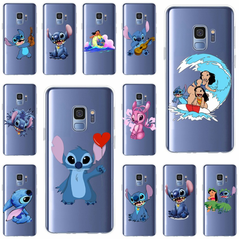 Cellphones & Telecommunications Phone Bags & Cases For Samsung Galaxy S6 S6edge S6plus A7 S7s8 S9 Plus A5 J5 J7 2016 Cartoon Lovely Stich Stitch Cover Soft Silicone Tpu Phone Case In Pain