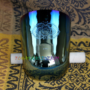 """Image 5 - 4th octave G Throat chakras carved design alchemy crystal singing bowl about 5.5"""""""