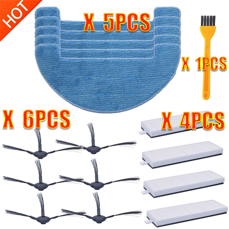 Robot GUTREND Parts Side Brush HEPA Filter Mop Cloth For GUTREND 220 200 Aqua G200B G220W G300W Robotic Vacuum Cleaner Parts