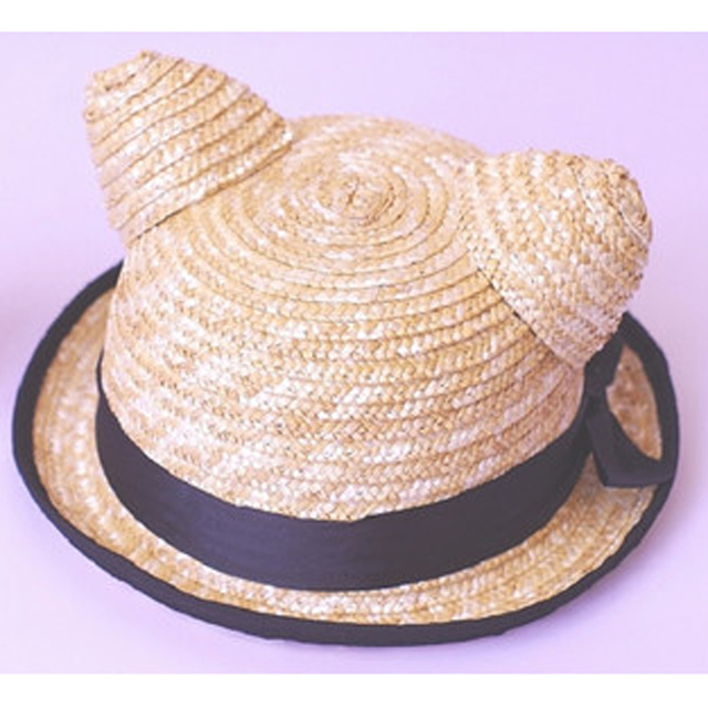 Free Shipping-News fashion fashion personality hat /VIVIone spo cat ears lovely straw hat,dome grass hat,women-hot sale