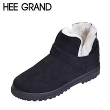 HEE GRAND Hiver Chaud Chaussures Femmes Bottes de Cheville De Mode Bottes Faux Suede avec Plate-Forme Femme taille 35-44 XWX6060