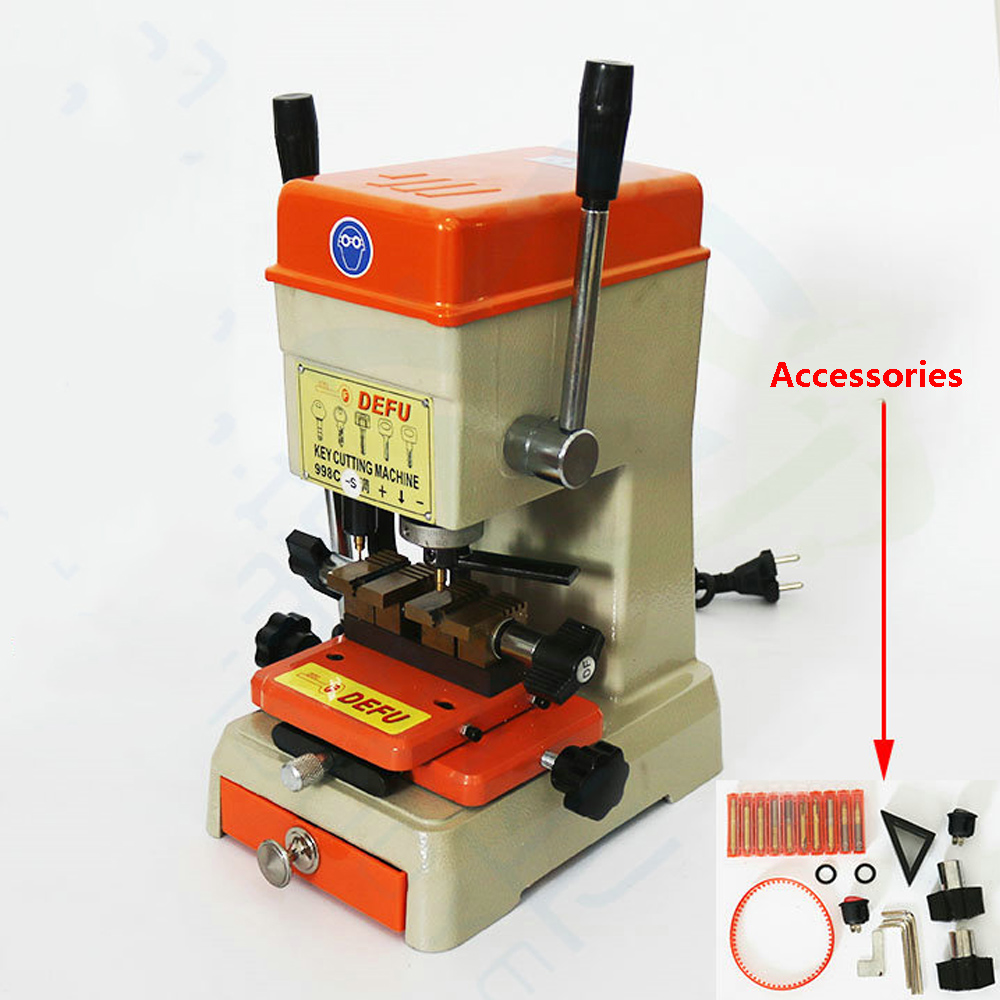 CHKJ 998C S Vertical Key Cutting Machine 998C Upgrade Key Duplicating Machine 220V Lock Pick Key Machine for Making Keys