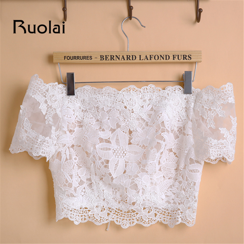 Vintage Off the Shoulder Short Sleeves Lace Bolero Jacket Custom Made Color Bridal Wedding Jackets Women Wedding Jackets FJ20