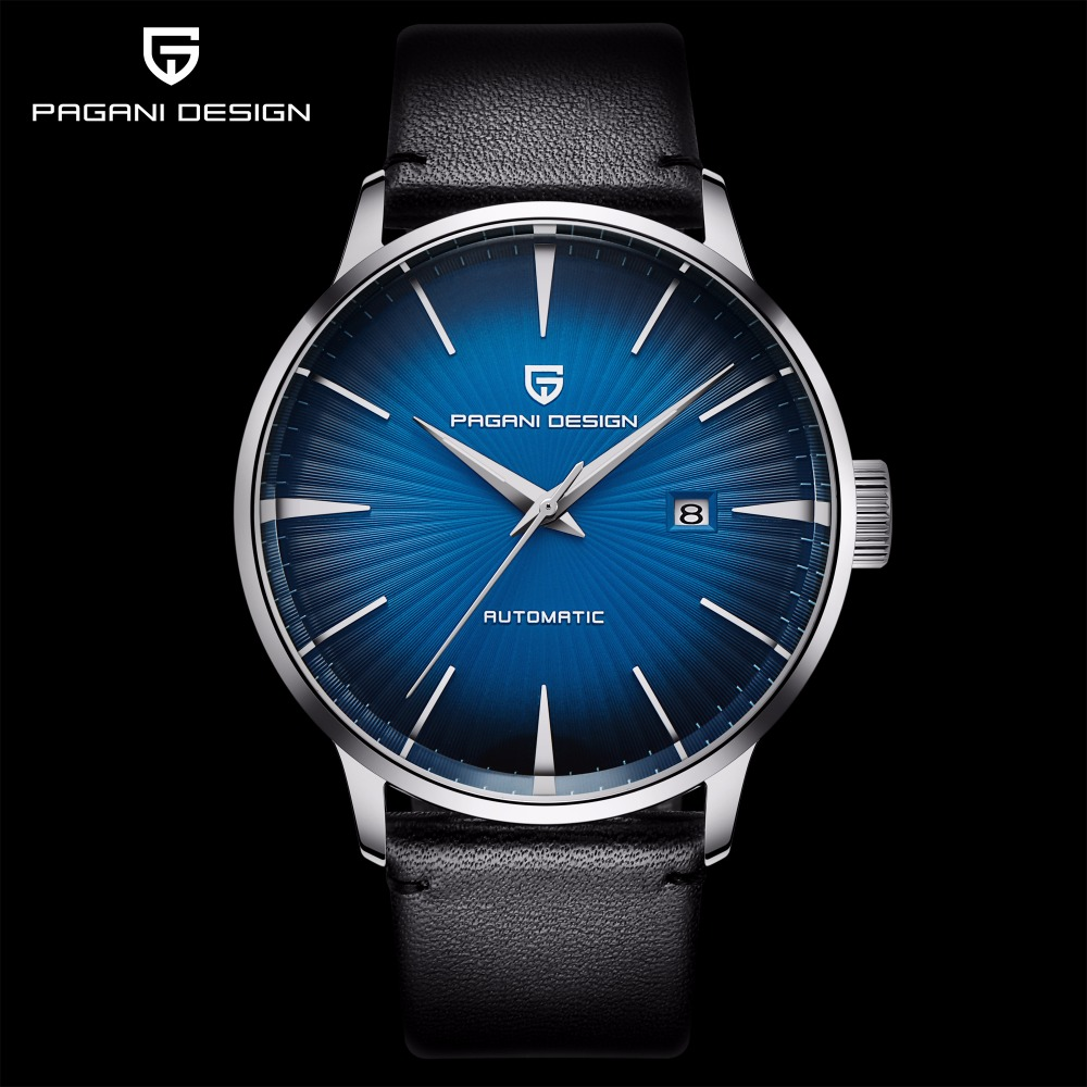 PAGANI Men Mechanical sport Watch Waterproof Genuine Leather Brand Luxury Automatic Business male wrist Watch relogio masculino in Mechanical Watches from Watches
