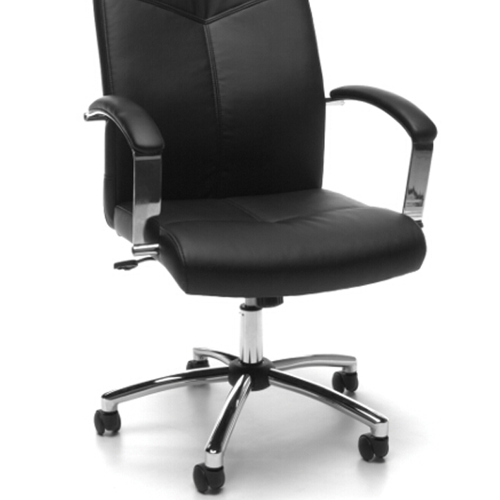 Model E1003 Essentials By OFM Leather Executive Office Chair With Arms