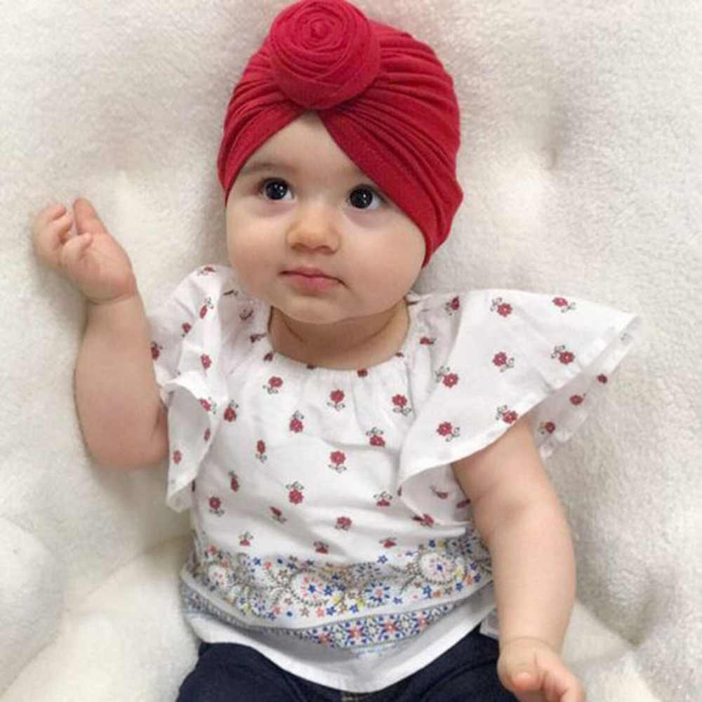 Indian Baby Girls Boys Infant Toddler Cotton Soft Turban Knot Cap Beanie Hat  Winter Autumn Muslim 1064cc938237