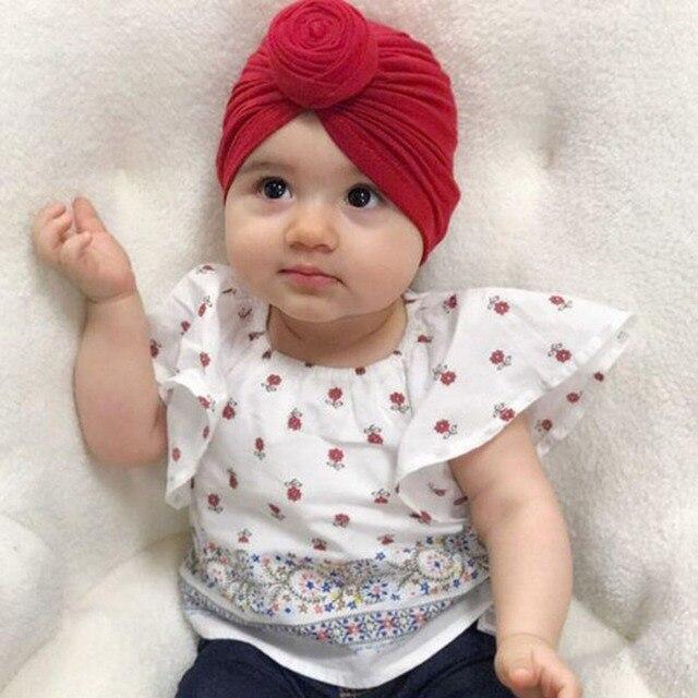 Indien Bébé Filles Garçons Infantile Enfant Coton Doux Turban Noeud Cap  Beanie Chapeau D hiver 2e3cb9ef642