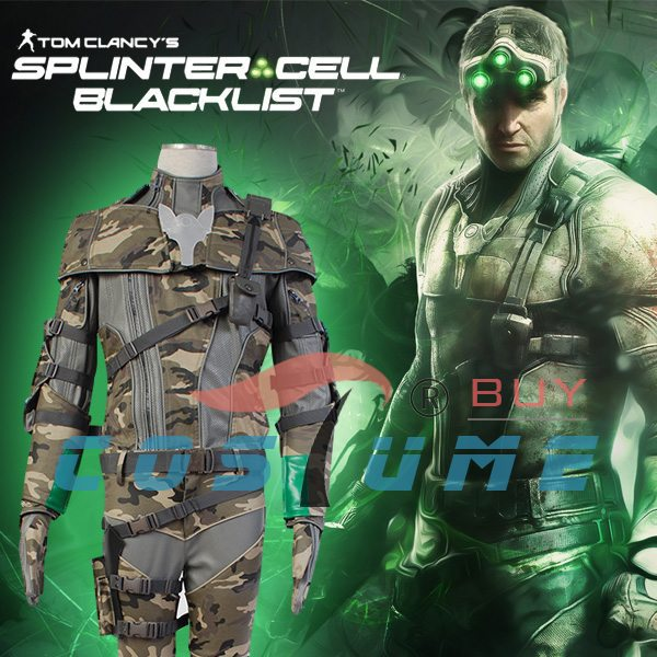 tom clancys splinter cell sam fisher camouflage coat outfit cosplay costume new arrivals - Splinter Cell Halloween Costume