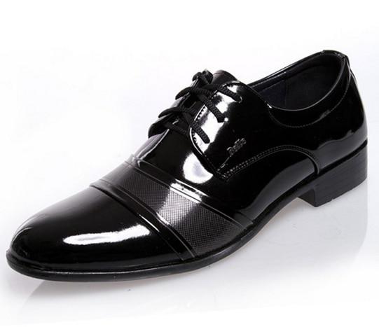 bf392585ecb6d7 ... Wingtip Oxford chaussures pour homme brillant commerciale pop noir PU  en cuir shose classique maree de