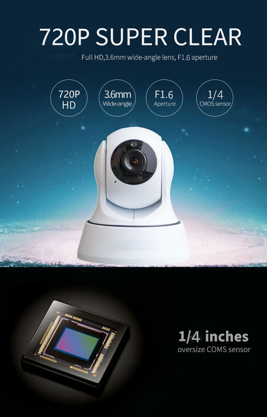 HD 720P IP Camera Pan Tilt WIFI Camera Baby Monitor Motion Detection IR  Night Vision Camcorder CCTV Home Surveillance