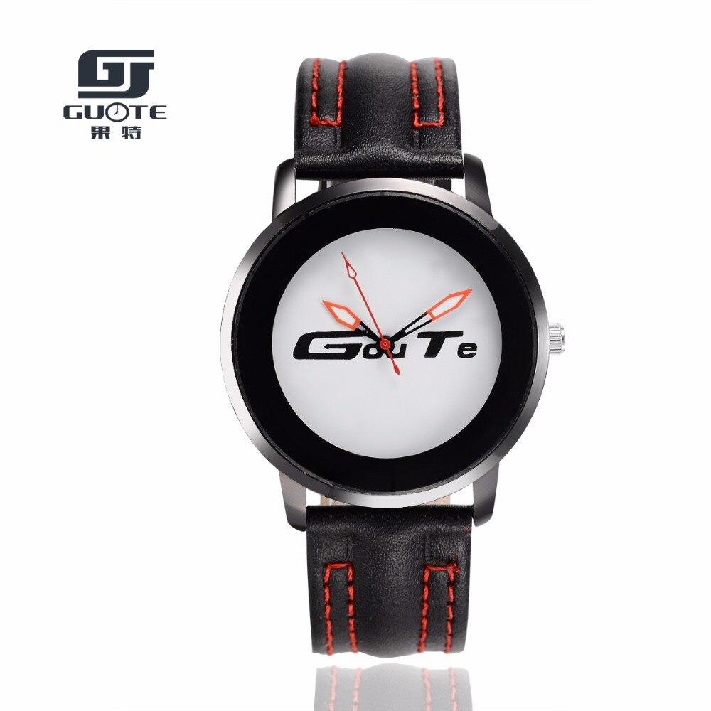 GUOTE Unique Unisex Watches Tropical Jungle Design Quartz Wristwatch For Men's Women's Creative Casual Sport Clock Hour Gift