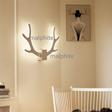 Nordic Style LED Antlers Wall Lamp Novelty Modern Home Decor Lighting Bedroom Bedside Sconce Light Fixture Corridor Lights