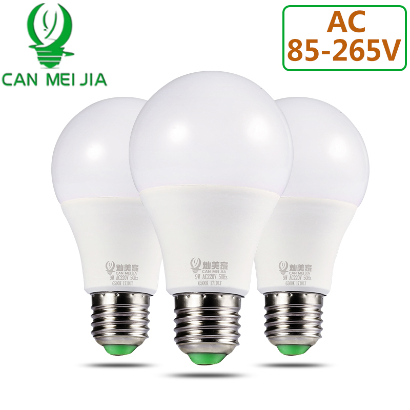 High Brightness LED Bulb Light E27 220V 110V Lamp Bulbs 3W 5W 7W 9W 12W 15W 18W Home Ampoule Led Bombillas Cold Warm White led candle lights 2835smd candle bulb lamp high brightness 3w e27 e14 ac220v 110v cold white warm white led bulb lamp