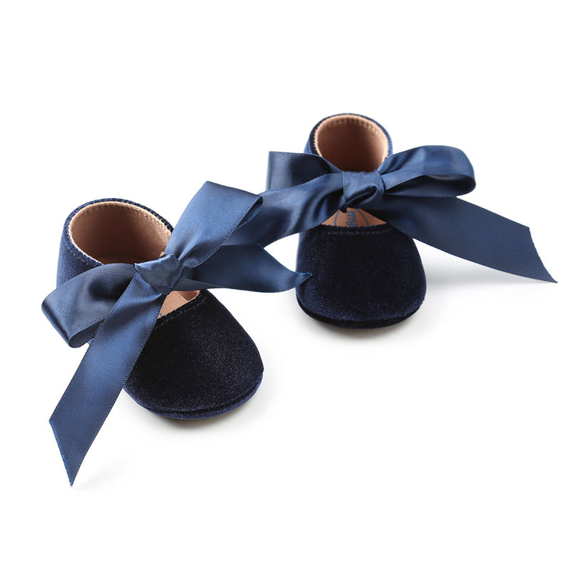 Fashion Baby Shoes Cute Ribbon Bowknot  Newborn Girls Princess Party Shoes Infant First Walkers 0-18M Moccasins