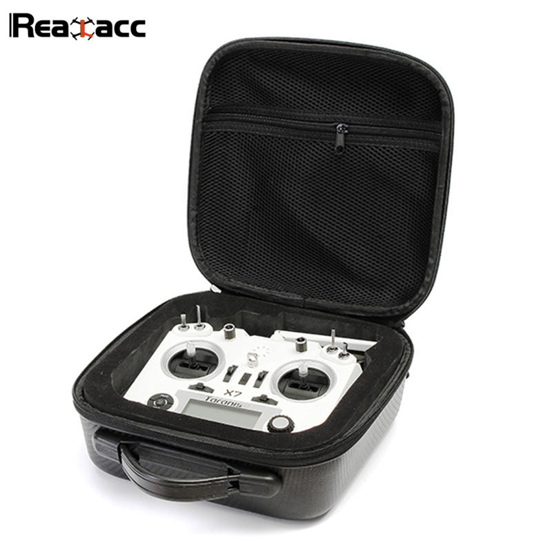 Original Realacc Remote Control Handbag Backpack Bag Carrying Case With Sponge For Frsky Taranis X9D PLUS SE Q X7 Transmitter niko black 21 23 26 ukulele bag silver edge nylon soprano concert tenor soft case gig bag 5mm thick sponge