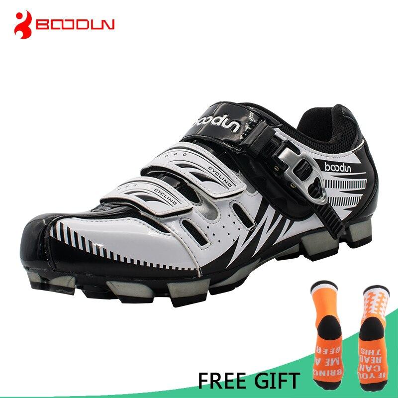 Boodun MTB Riteņbraukšanas apavi Profesionāli vīrieši Elpojoši velosipēdu apavi Velosipēdu pašblīvējošie sporta apavi Zapatillas Ciclismo