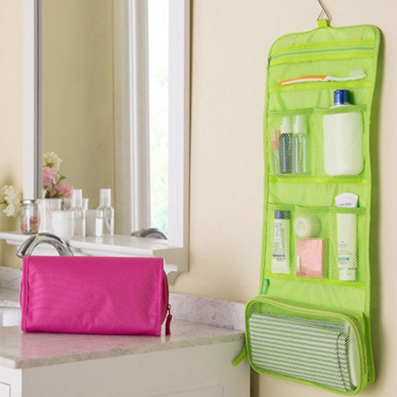 New Hanging Toiletry Kit Clear Travel Storage Bag Cosmetic Carry Toiletry Pockets For Womens Gril Gift Traveling Bathroom