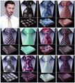 "Paisley Compruebe Dot 3.4 ""100% Seda de la Boda de Tejidos en Jacquard, Hombres Corbata del lazo Pocket Square Pañuelo Set Suit # D8"