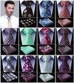 """Paisley Verifique Dot 3.4 """"100% Do Casamento De Seda Tecido Jacquard Homens Gravata do laço Bolso Praça Handkerchief Set Suit # D8"""
