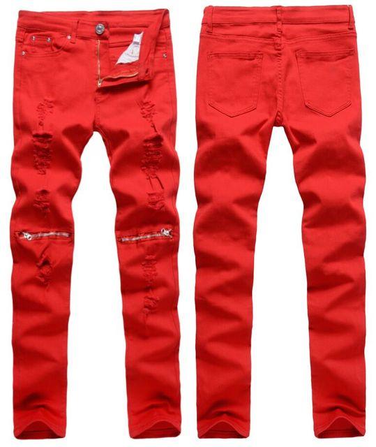 e75d9bd029 US-Euro moda jeans para hombres de alta calidad lápiz pantalones de mezclilla  calle marca
