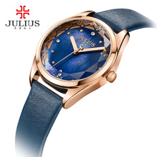 JULIUS 2017 New Summer Waterproof Quartz Watches for Women 4 Colors PU Leather Wrist Watches JA-973