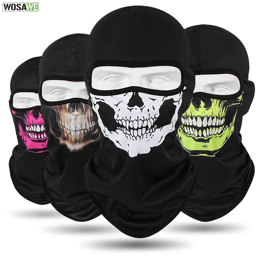 WOSAWE Motorcycle Full Face Mask Sun Protection MOTO Motocross Bandana Motorbike Racing Face Shield mtb Bicycle Balaclava Scarf-in Motorcycle Face Mask from Automobiles & Motorcycles