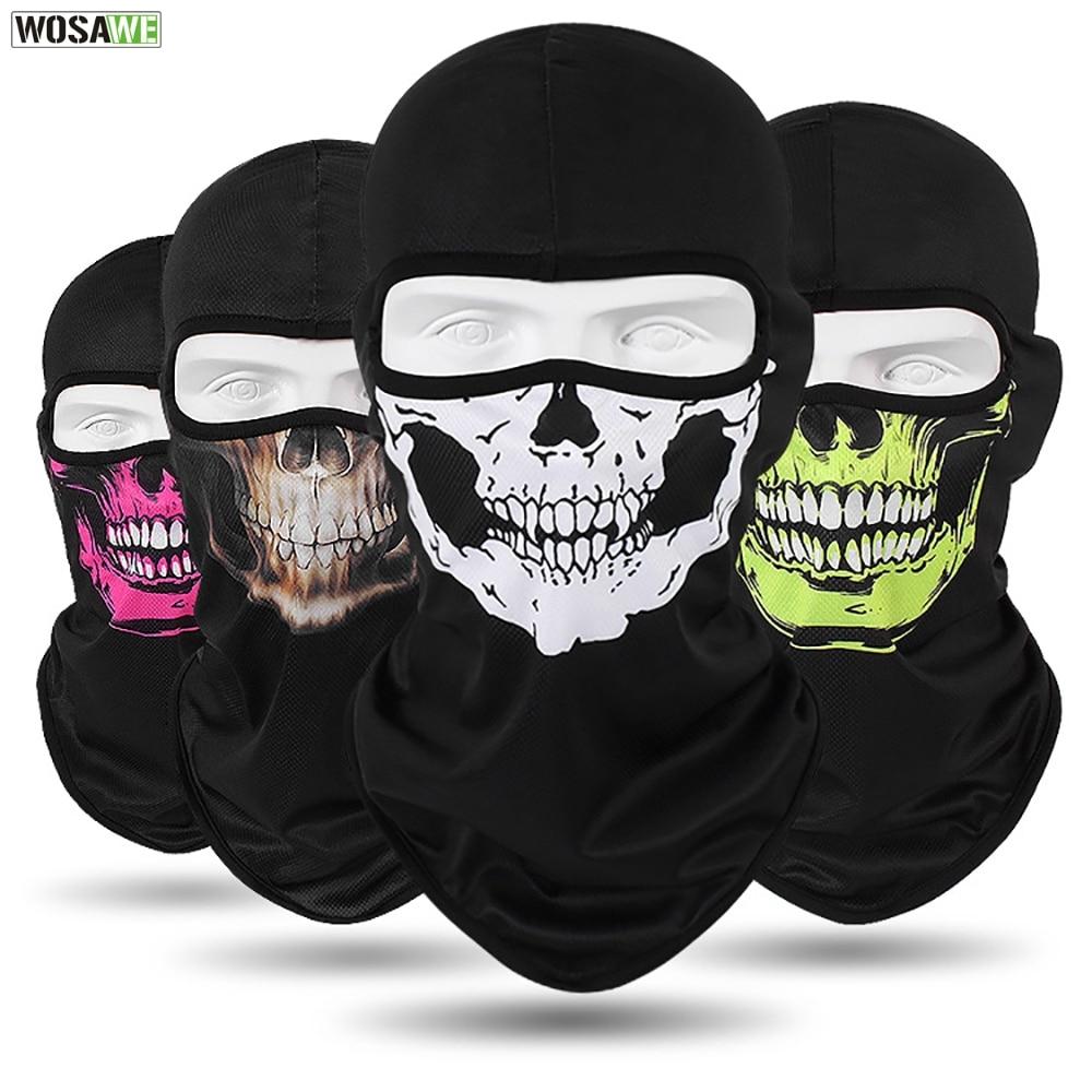 WOSAWE Motorcycle Full Face Mask Sun Protection MOTO Motocross Bandana Motorbike Racing Face Shield Mtb Bicycle Balaclava Scarf