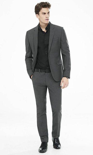 2017 Latest Coat Pant Designs Dark Grey Casual Custom Beach ...