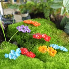 New 10Pcs Miniature Flower Moss Bonsai DIY Crafts Fairy Garden Landscape Decor(China)