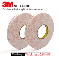 100% Original 3M VHB 4930 two sided acrylic adhesive tape 12mm*33M,we can offer other size