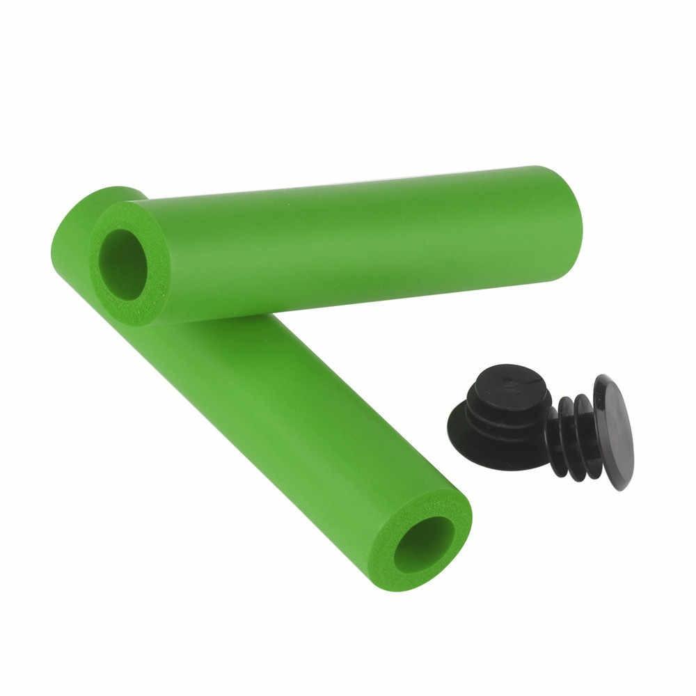 2 шт. ручки велоруля Сверхлегкий силиконовый материал рукояток MTB велосипедный руль Противоскользящий мягкий ощущение прочный велосипед аксессуары 20