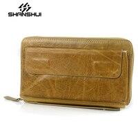 SHANSHUI Brand Black Men S Clutch Bags Hand Wallet Key Card Holder Mens Big Wallets Phone