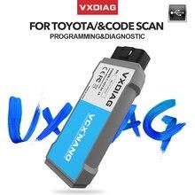 Vxdiag usb nano diagnóstico tis techstream v14 v15 obd2 código scanner ecu programação ferramenta de diagnóstico do carro para toyota/lexus