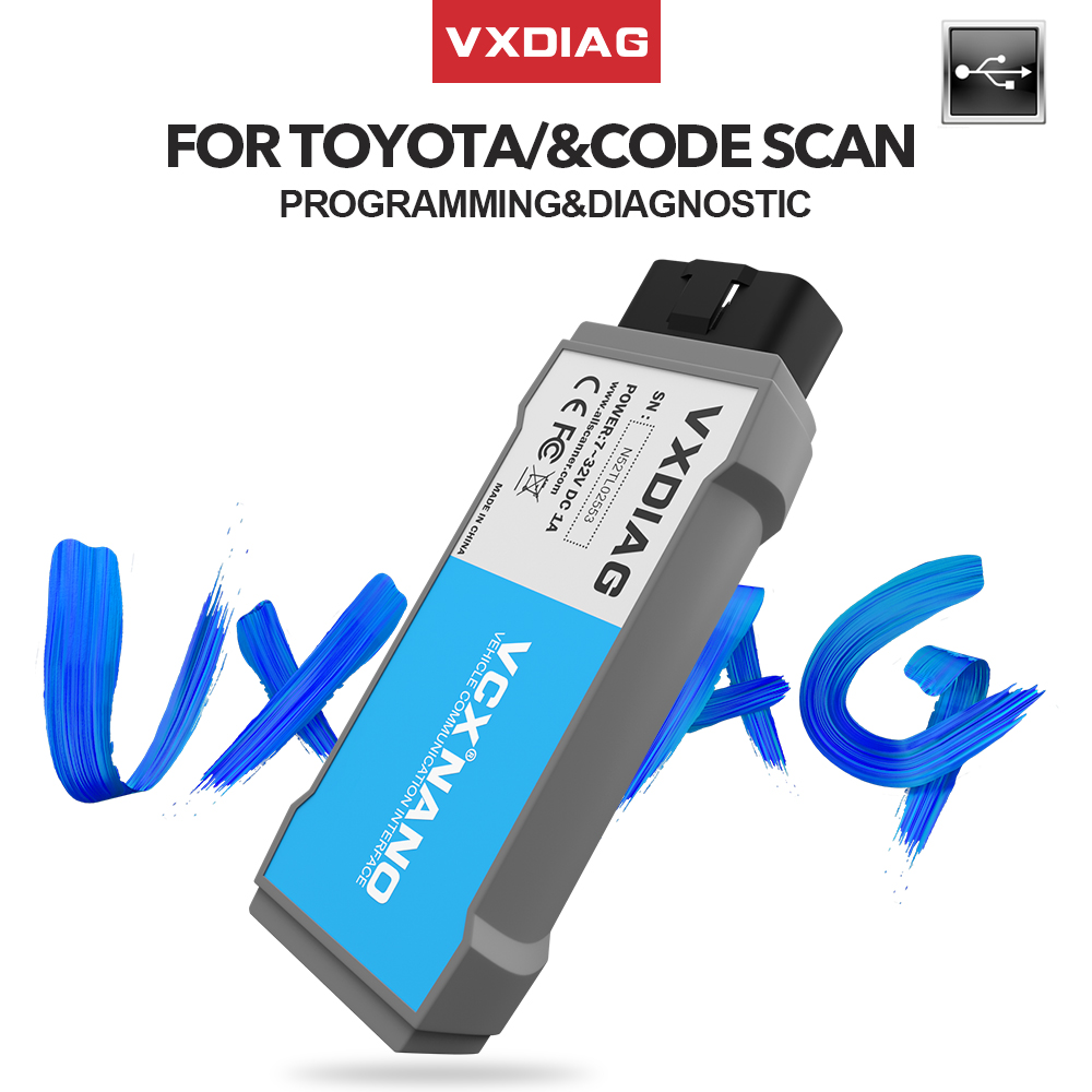VXDIAG USB NANO TIS Techstream V14 For TOYOTA Obd2 Code Scanner Compatible With SAE J2534 Programmer Diagnostic Tool For Lexus