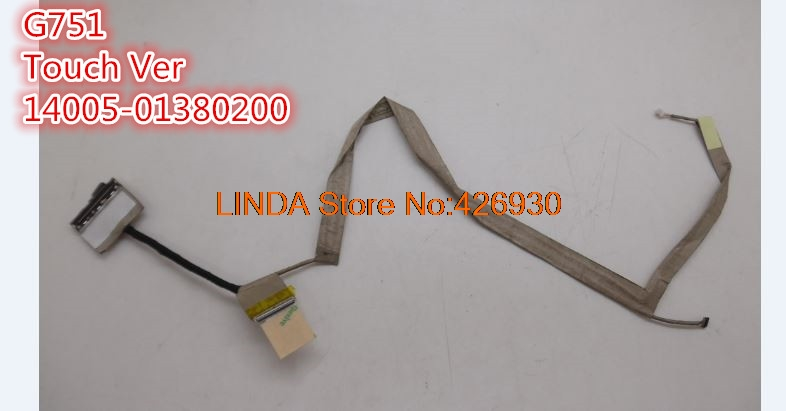 Laptop LCD Cable For ASUS G751 G751J G751JL G751JM G751JT G751JY Touch Ver/Non-touch Ver 14005-01380200 14005-01380600 new laptop lcd screen video cable for asus x551 x551m x551a x551c x551ca flex cable p n dd0xjclc000 14005 01070100