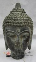 China Antique collection Bronze Buddha head statue