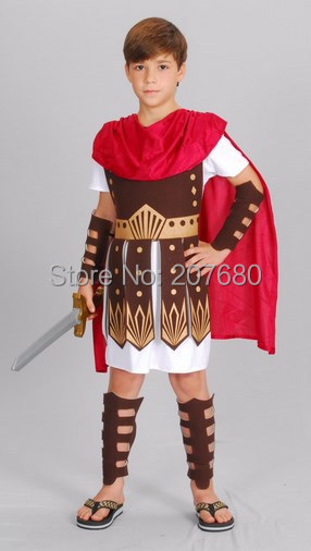 The Hercules clothing children's Gladiator costume Fancy dress for kids Costume,Cloak,Cloth armor,Wrist, Foot wrist