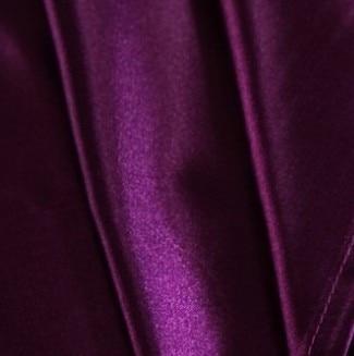 7pcs Tünd bənövşəyi atlaz ipək yataq dəsti California king - Ev tekstil - Fotoqrafiya 3