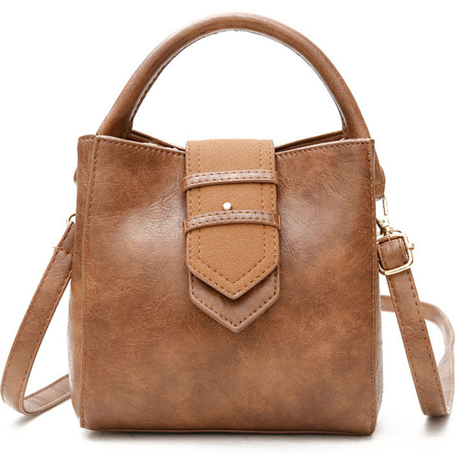 cc9856fd91f0 Fashion small crossbody bag vintage bucket solid shoulder bag female luxury handbags  women bags designer women