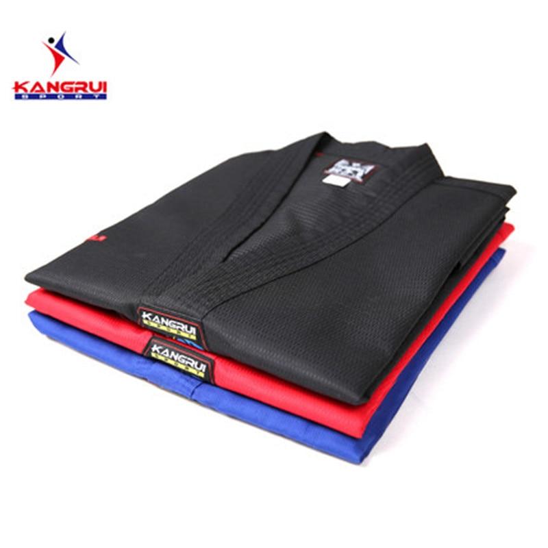 Poomsae Taekwondo Uniform kleurrijke rood blauw zwart coach dobok - Sportkleding en accessoires - Foto 1